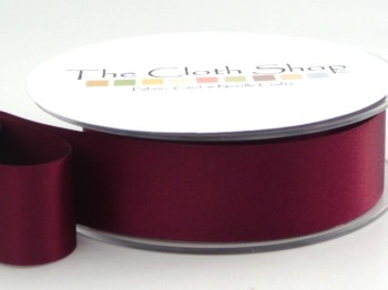 Double Satin Ribbon Wine Red 3501-17