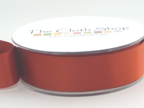 Double Satin Ribbon Rust 3501-55