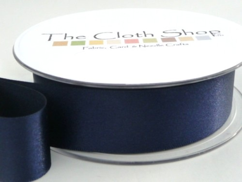 Double Satin Ribbon Navy 3501-13