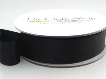 Double Satin Ribbon Black 3501-10