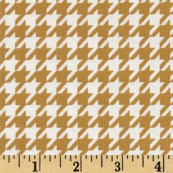2141805-02 Houndstooth White & Marigold