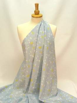 mp071-02 grey with dragonflies cotton - 2