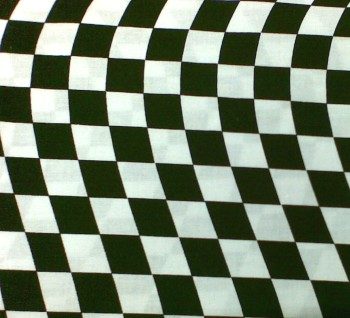 Black & White Chequered Wave L-CP32251