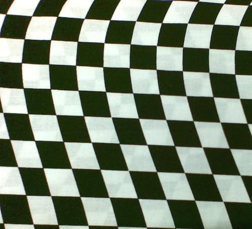 Black & White Chequered Wave L-CP32251