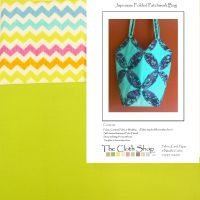 Lime & zigzag cropped