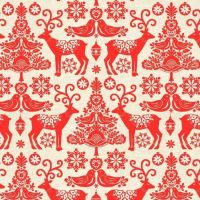 1476-R Scandi - Red Reindeer
