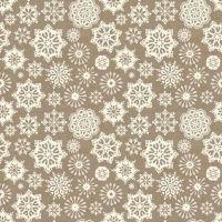 1480-S6 Scandi - Silver Grey Snowflakes