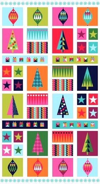 Christmas Wrap Fabric Panel 1613-1