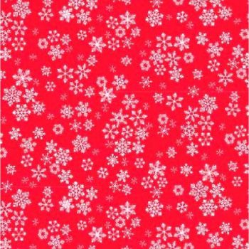 1585-R Frosty Snowflakes Red