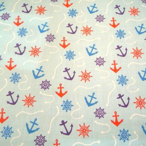 Nautical design on blue LX1616