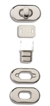 Bag Turn Clasp - Silver  417880