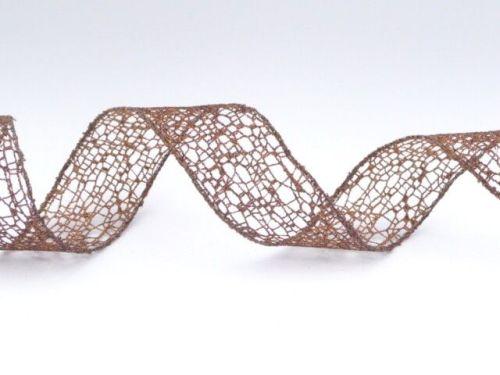 COS16B14 Wired Bronze Mesh Ribbon