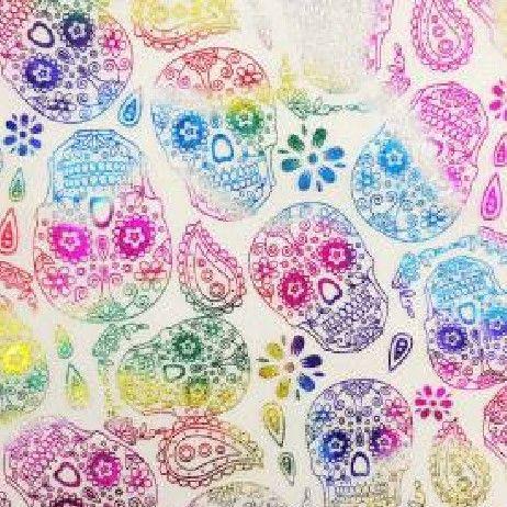 Rainbow Skulls 0865