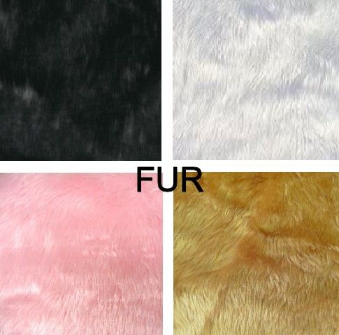Fur Fabric - Black