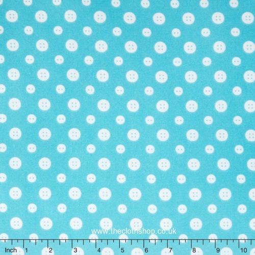 Turquoise Buttons F6461-11