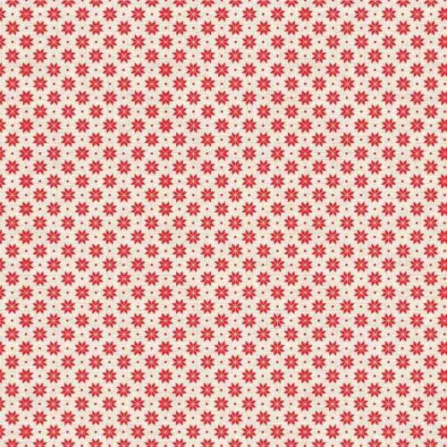 Scandi B Snowflake Red 1789-R2