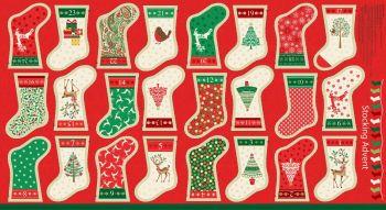 Christmas Stockings Advent Calendar Bunting 1798