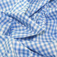 L009-06 Pale blue gingham