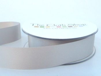 Double Satin Ribbon Silver Grey 3501-18