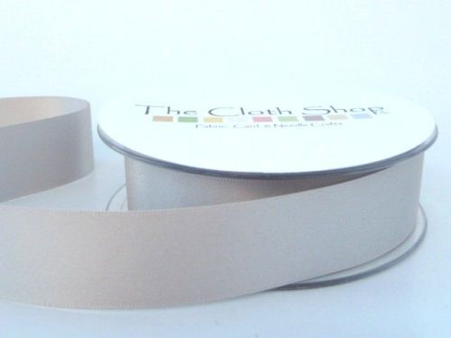 Double Satin Ribbon Silver Grey 3501-18