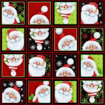 Q6751-89 Jolly 'ole St Nick Squares