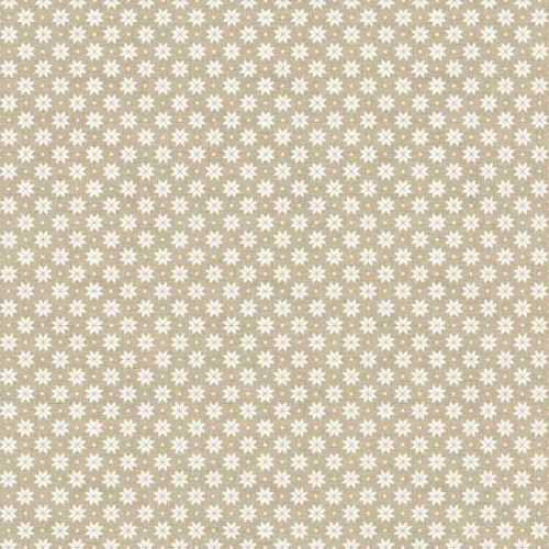 2017 - 1789-S3 Scandi B Snowflake Cream on Taupe