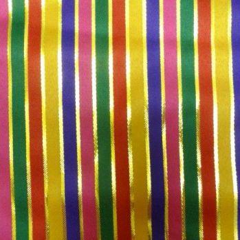 Gold & Multicoloured Stripe L1805