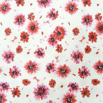 PHCRA006A Red Floral Cotton Poplin