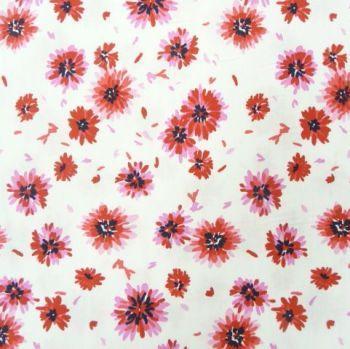 PHCRA006B Red Floral Cotton Poplin