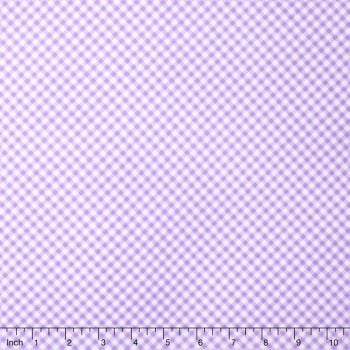 F6463 Flannel - Gingham Lilac