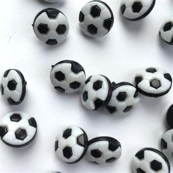 CN20-B Football Buttons - Black & White x 10