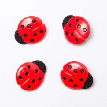 CN16 Ladybird Buttons x 10