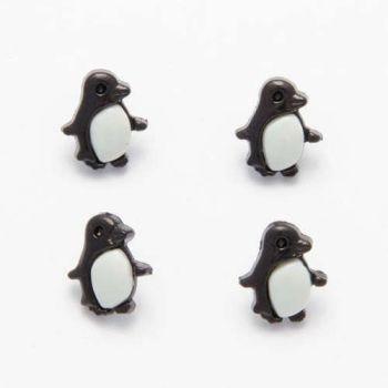 CN21 Penguin Buttons x 10