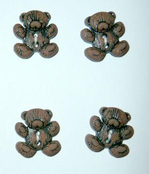 CN28 Teddy Bear Buttons x 10