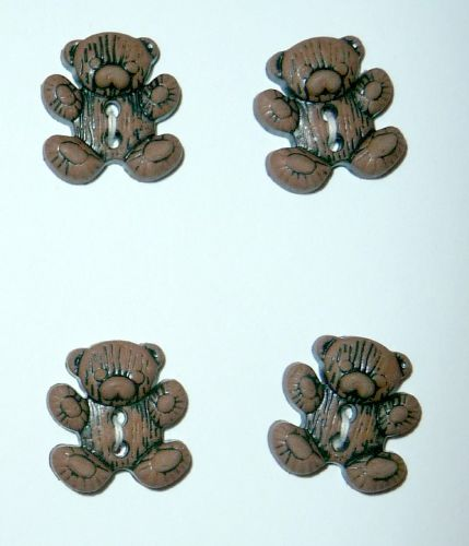 CN28 Teddy Bear Buttons