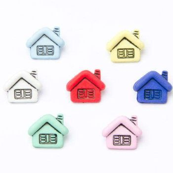 CN44 Houses Buttons x 10