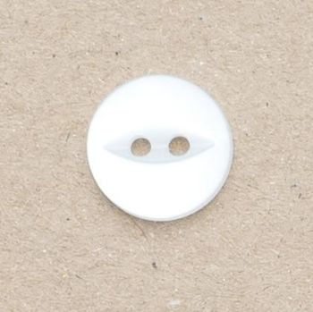 CP16-01-18L White 12mm Fish Eye Buttons x 10