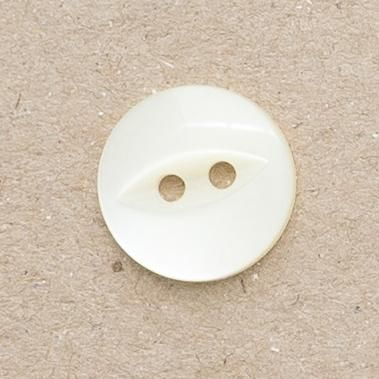 CP16-08-22L Cream 14mm Fish Eye Buttons x 10
