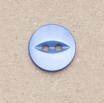 CP16-24-22L Royal Blue 14mm Fish Eye Buttons x 10