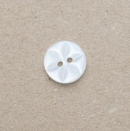 CP86-01-18L White  12mm Star Buttons x 10