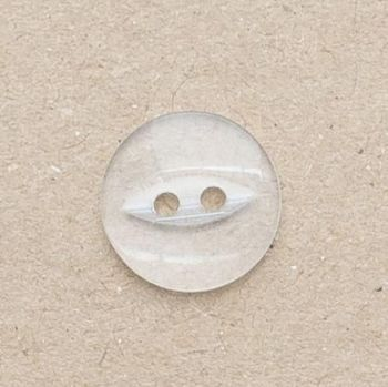 CP16-C- 18L Clear 12mm Fish Eye Buttons x 10