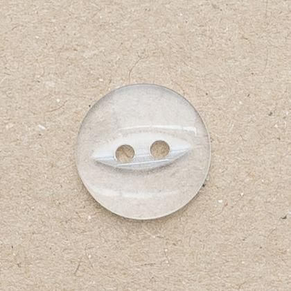 CP16-C 12mm Fish Eye Buttons - Clear