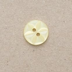 CP86-03-22L Lemon 14mm Star Buttons x 10