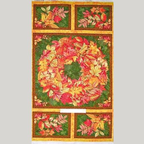 1802-718 Autumn Leaves Panel