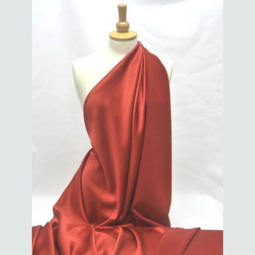 PRADA Satin Backed Crepe Red