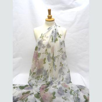 Sheer Floral Georgette LA0008