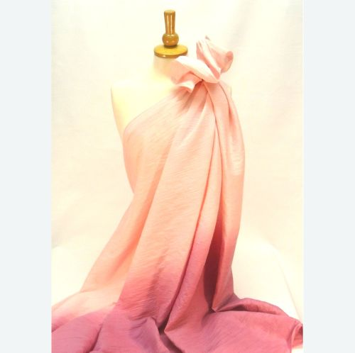 Pink Ombre Crinkle Cotton JL98601