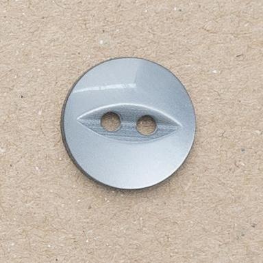 CP16-12-22L Silver Grey 14mm Fish Eye Buttons x 10