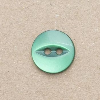 CP16-35-22L Bottle Green 14mm Fish Eye Buttons x 10