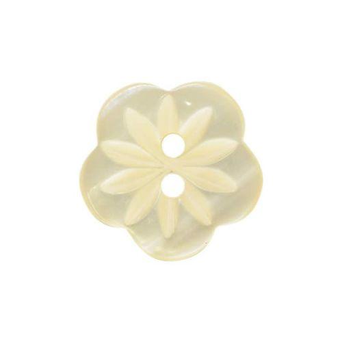 CP8-08-20L Cream 13mm Flower Buttons